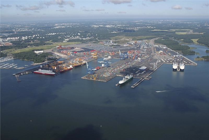 морские перевозки - порт хельсинки