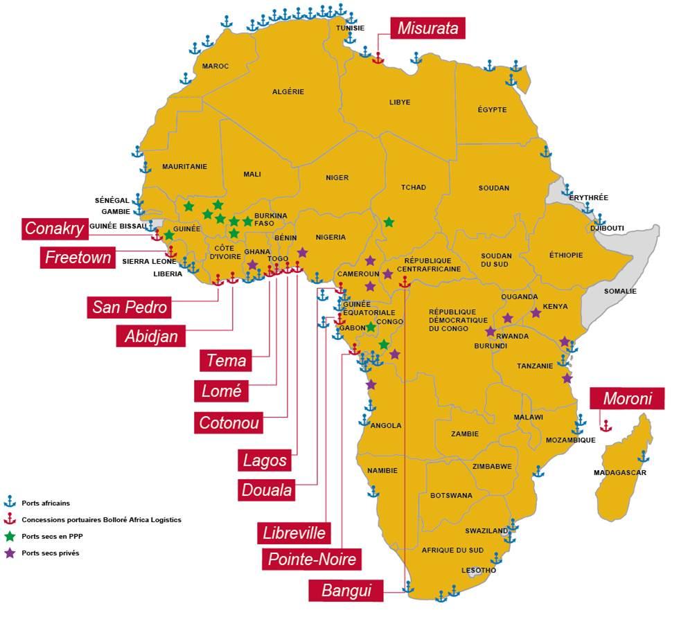 Морские порты в Африке