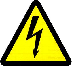 Предупреждающий знак опасности поражения электрическим током