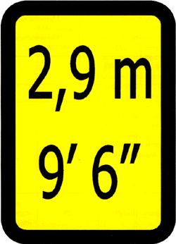 Знак высоты контейнера