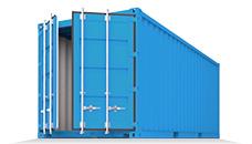 Стандартные - Наиболее популярные контейнеры 20, 40, 45 футов с одной двухстворчатой дверью