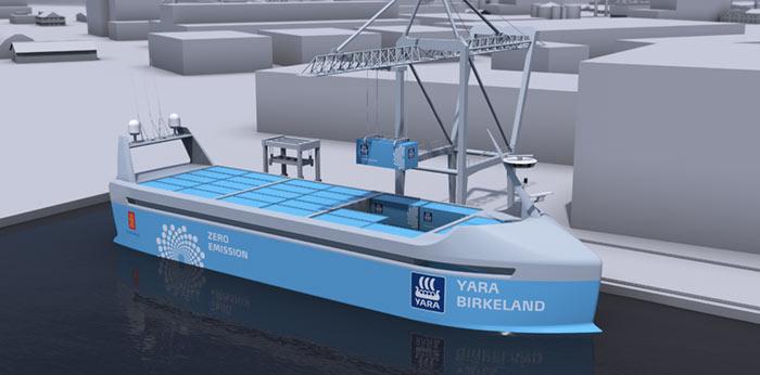 Первый в мире автономный корабль с нулевыми выбросами должен быть готов к 2020 году