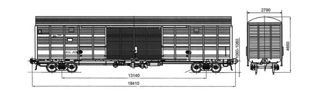 4-осный крытый вагон модели 11-1807-01
