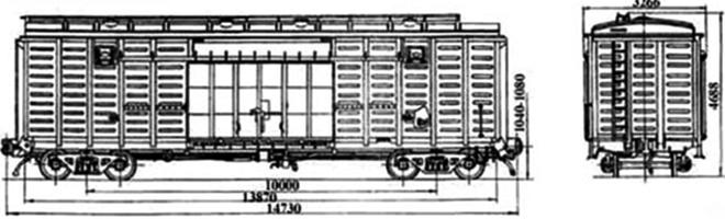 4-осный крытый вагон модели 11-270