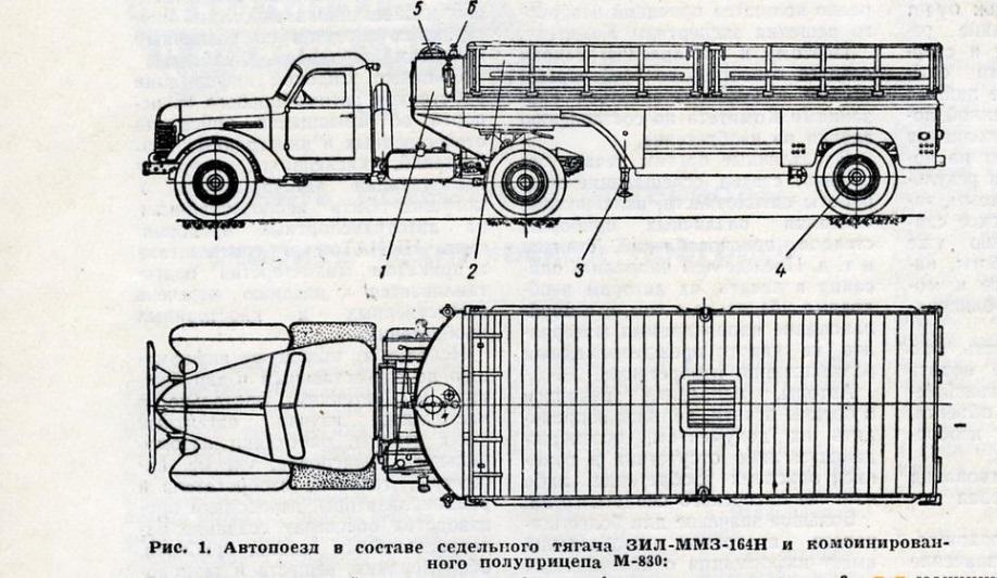 комбинированный полуприцеп М-830