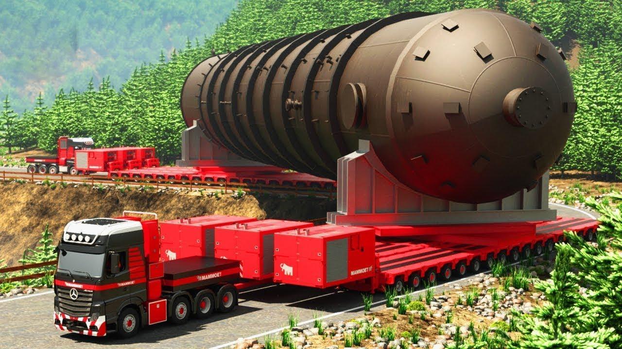 перевозка ядерного реактора весом 1048 тонн в саудовской аравии