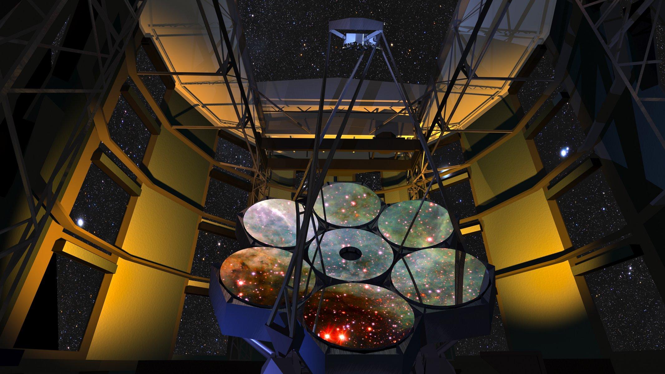 самые большие зеркала для телескопа