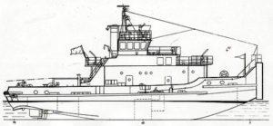буксир ледового класса О лед - проект Р47А